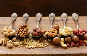 Distintos frutos secos que engordan